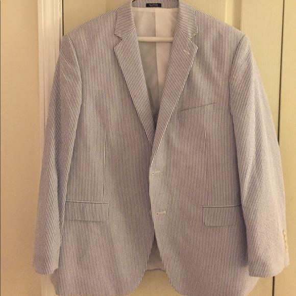 edc75e57843f Saddlebred Jackets & Coats | Blue White Seersucker Jacket | Poshmark