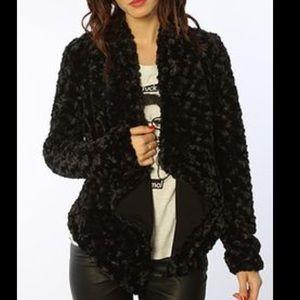 Jack by BB Dakota Jackets & Blazers - Jack open draped faux fur rocker jacket