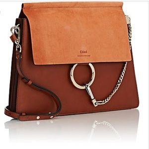 CHLOE FAYE authentic Medium Leather brown bag