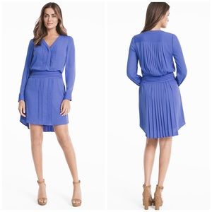 WHBM Periwinkle Pleated Shirt Dress
