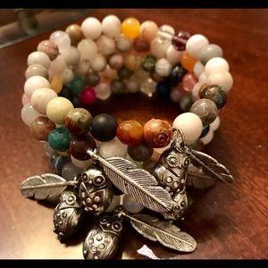 Boho Gypsy Sisters Jewelry - Owl Agate Bracelet