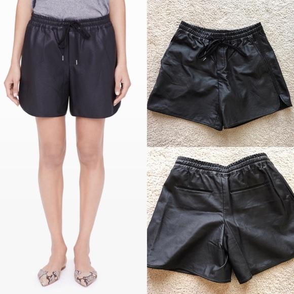 545ea6b46a Club Monaco Pants - Club Monaco Riya Perforated vegan leather shorts