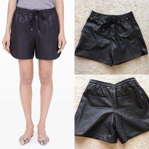 Club Monaco Pants - Club Monaco Riya Perforated vegan leather shorts