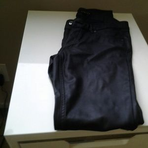 Timing black pleather pants