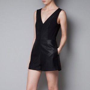 Zara leather romper