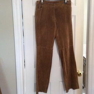 Covington Pants - Tan suede pants. Great alternative to jeans.