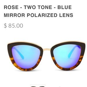 Diff Eyewear Accessories - Diffeyewear ROSE two tone polarized sunglasses