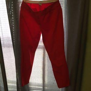 J. Crew 2 Minnie red skinny pants mint!