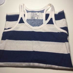 Lilu Tops - Blue and white striped tank top