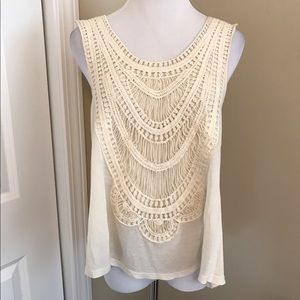Willow & Clay Tops - NWOT, Willow & Clay, Amazing Crochet Beaded Top!