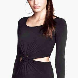 Ark & Co Dresses & Skirts - Ark & Co cutout black twist maxi long dress