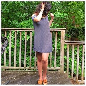 Dresses & Skirts - 🆕 striped cold shoulder dress
