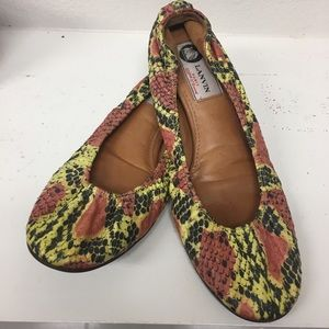 Lanvin Shoes - Lanvin Python-Skin Flats