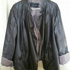 Black Rivet Jackets & Blazers - Faux Biker Style Jacket