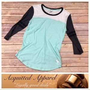 PINK Victoria's Secret Tops - [PINK] Victoria's Secret Tiffany Blue Long Tee