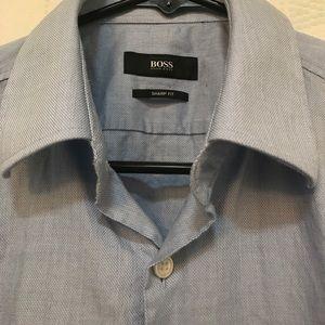 Hugo Boss Sharp Fit Dress Shirt Size 15 32/33