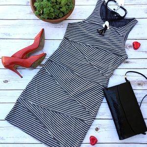 Sugar Lips Dresses & Skirts - Sugar Lips Zig Zag Striped Dress with Mesh Back