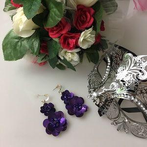 Jewelry - Purple Flower Earrings
