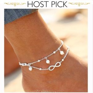 Jewelry - 5⭐️ RATED! Double strand infinity pearl  anklet.