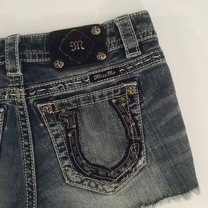 Miss Me Pants - Miss Me Horseshoe Pocket Signature Shorts