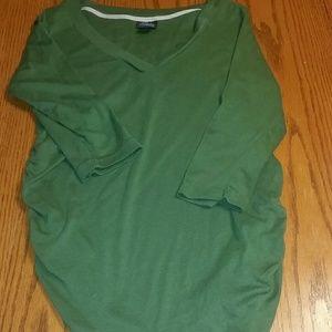 Green, 1/4 sleeve, size Large maternity shirt