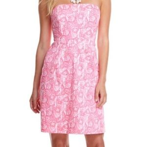 Vineyard Vines Dresses & Skirts - Vineyard Vines pink Shells Allover Strapless dress