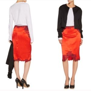 rag & bone Dresses & Skirts - Rag & Bone satin lace red pencil skirt