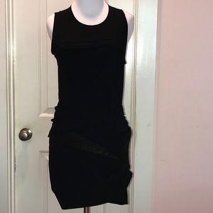 IRO Dresses & Skirts - Asymmetrical Iro black dress with exposed zip