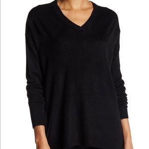 Sweet Romeo Sweaters - Sweet Romeo Oversized V-Neck Pullover Sweater
