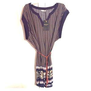 Brave Soul Dresses & Skirts - Brave Soul Border Print Belted Tunic Dress