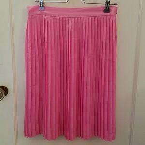 Sheer Pleated Pink American Apparel Skirt sz M