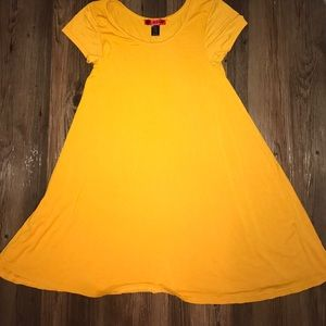 Hot Kiss Dresses & Skirts - Simple Yellow Shirt Dress