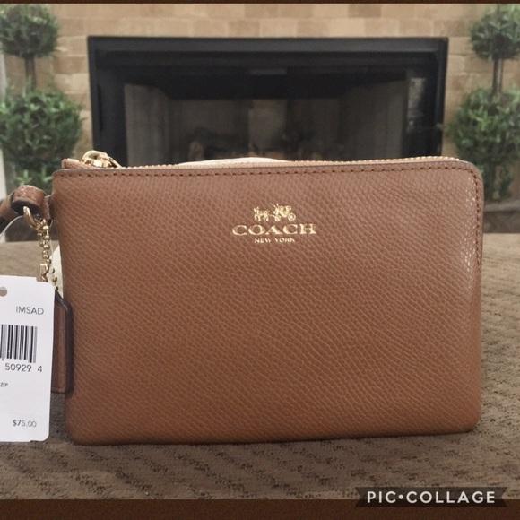 336b72f63d1e9  75 Authentic Coach Leather Wristlet