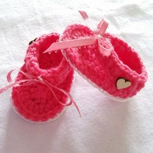 Other - Handmade Crochet Baby Sandals . Adjustable