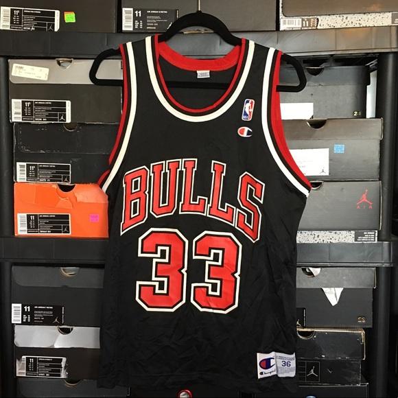 half off bea7e a47f5 Champion Chicago Bulls Scottie Pippen Jersey