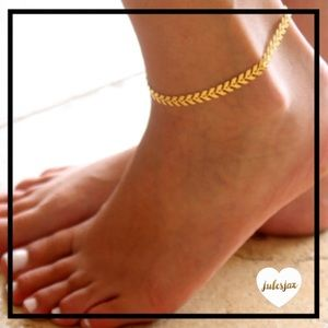 Jewelry - Fishbone gold chain anklet ankle bracelet