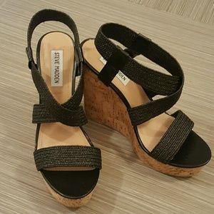 Steve Madden Shoes - NEW! Steve Madden Elika Cork Wedge Sandals