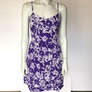 {gap} purple and white floral dress