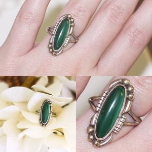 Jewelry - Sterling Silver Malachite Ring
