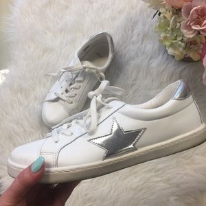 ASOS Shoes - White Sneakers with Silver Stars