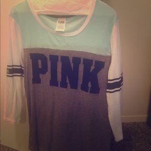 PINK Victoria's Secret Tops - VS Pink 3/4 sleeve football style shirt