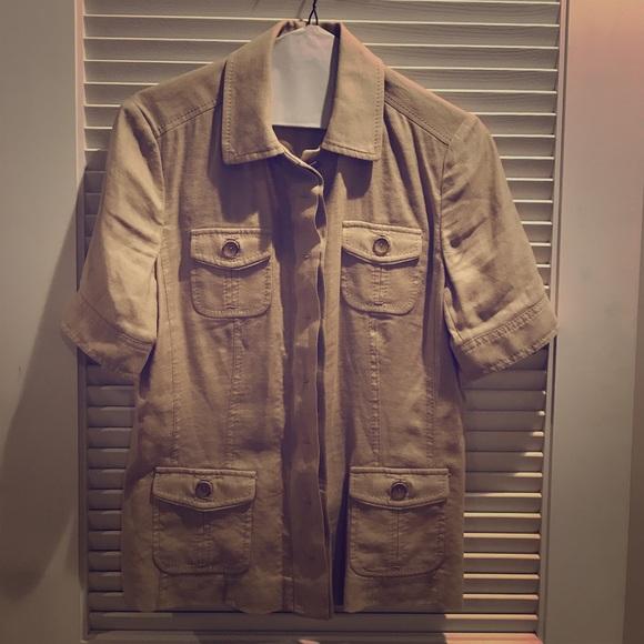 Elie Tahari Tops - Ellie Tahari safari shirt button down