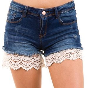 Pants - NEW Cream Lace Short Extenders