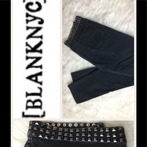 Blank NYC Designer Jeans With Studs.  Sz 29