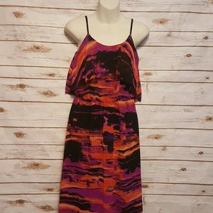 Urban Outfitters Dresses & Skirts - Kensie watercolor sunset flounce maxi dress