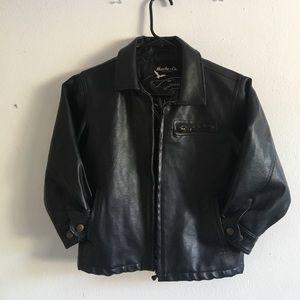 Hawke & Co Other - • Faux Leather Biker Jacket Kids size 5 •