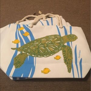 Kim Rogers Other - Beach bag New med size with zipper! Rope handles