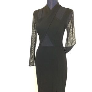 FIRM🎯New TADASHI Small Black Cut Out Formal Dress