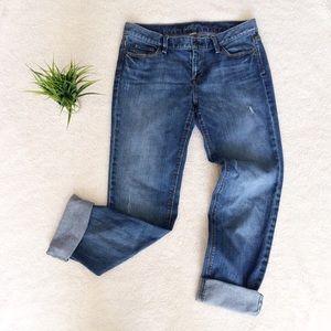 LOFT Denim - Ann Taylor LOFT Modern slim Destroyed Jeans