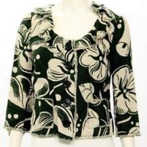 Moschino Cheap And Chic floral 100% Linen jacket